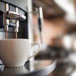coffee machine in the office dispensing delicious espresso coffee